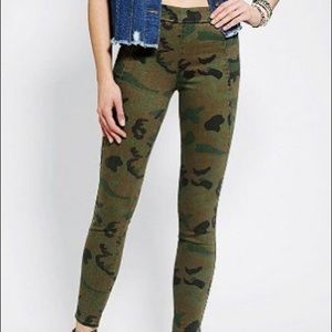 silence and noise camo pull on pants